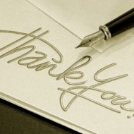 The Importance of the Thank You Note