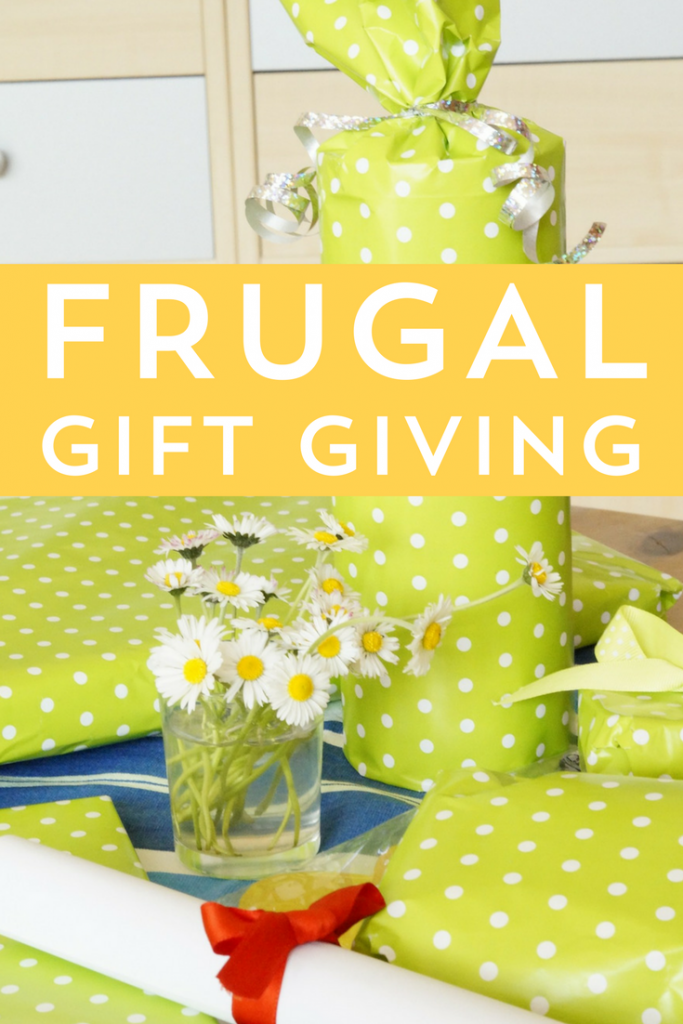 Practice frugal gift giving by being prepared! Here are some of my favorite ways to save on gifts and gift-wrap, without looking cheap!