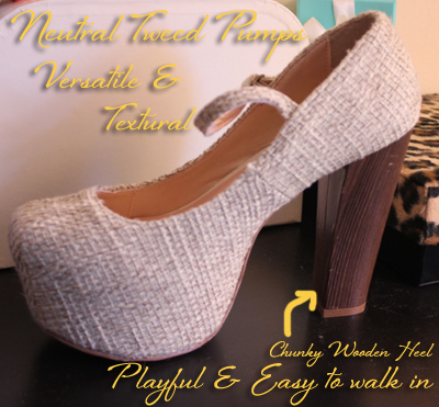GoJane Shoe Review Tweed Heels