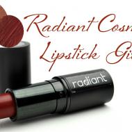 XoXo- Radiant Cosmetics Lipstick Giveaway