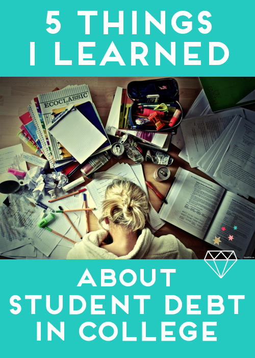 The 5 biggest lessons I learned about student loan debt in college, and how it can help you.