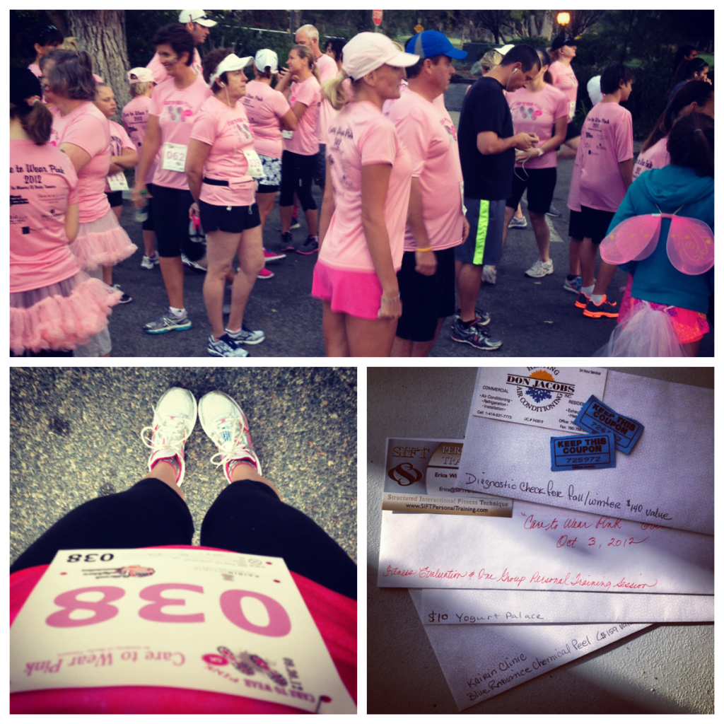 Care To Wear Pink... My First 5k!