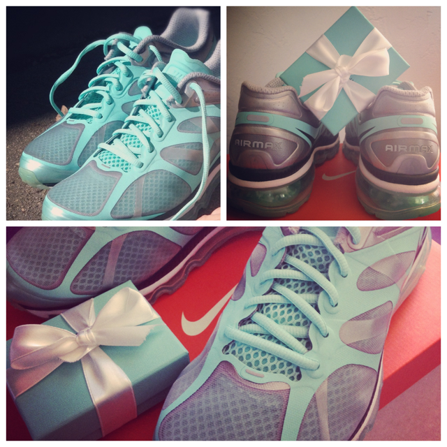 My new Tiffany Blue Nike Running Shoes