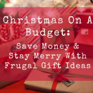 Surviving The Holidays On A Budget