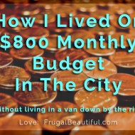 How I've Lived On An $800 Monthly Budget In The City