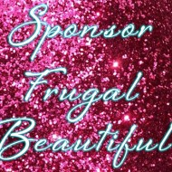 Sponsor Frugal Beautiful For April- Blogger and Etsy Discounts Available!