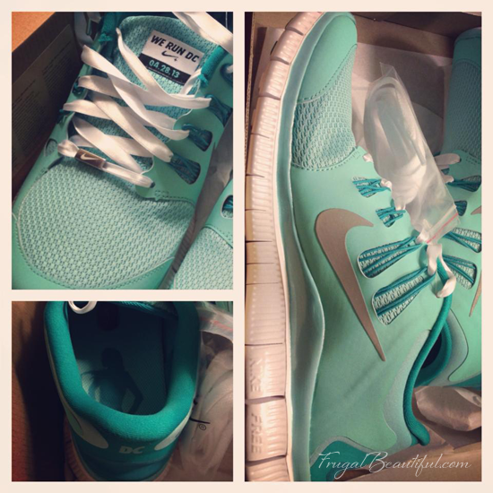 The Nike Women's Half D.C. Tiffany Blue Nike Frees Shoes