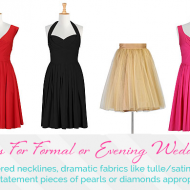 Frugal Fashion:  What Should You Wear To A Wedding?