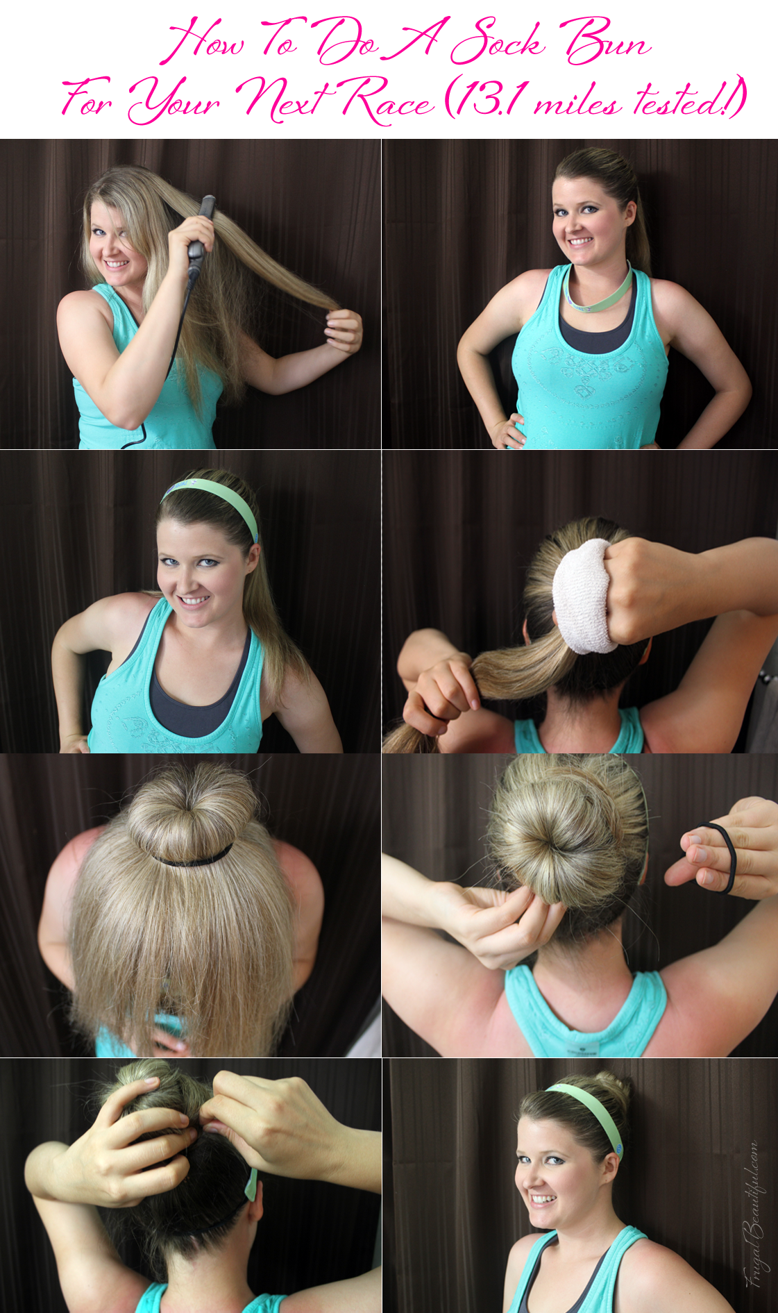 How To Do A Sock Bun For Your Next Race (Half Marathon approved!)