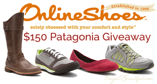 OnlineShoes,.com Patagonia Giveaway - $150 credit giveaway!  Enter now for a new pair of Patagonia shoes for fall!