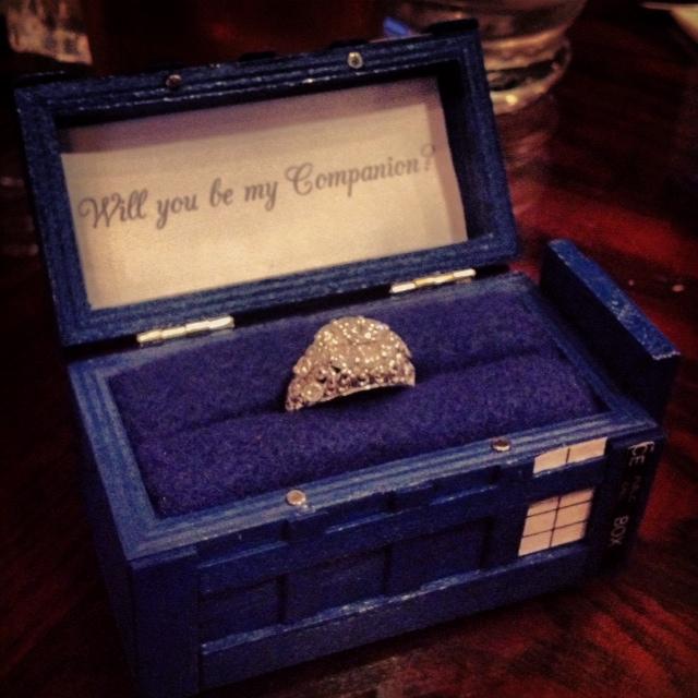 TARDIS Ring Box Proposal Doctor Who Proposal