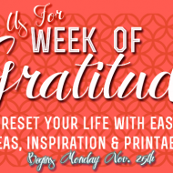 Join Us For A Week Of Gratitude (Decompress Before The Holiday Rush!)