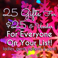 25 Gifts For $25 and Under – For Men, Women, Parents, Couples and More!