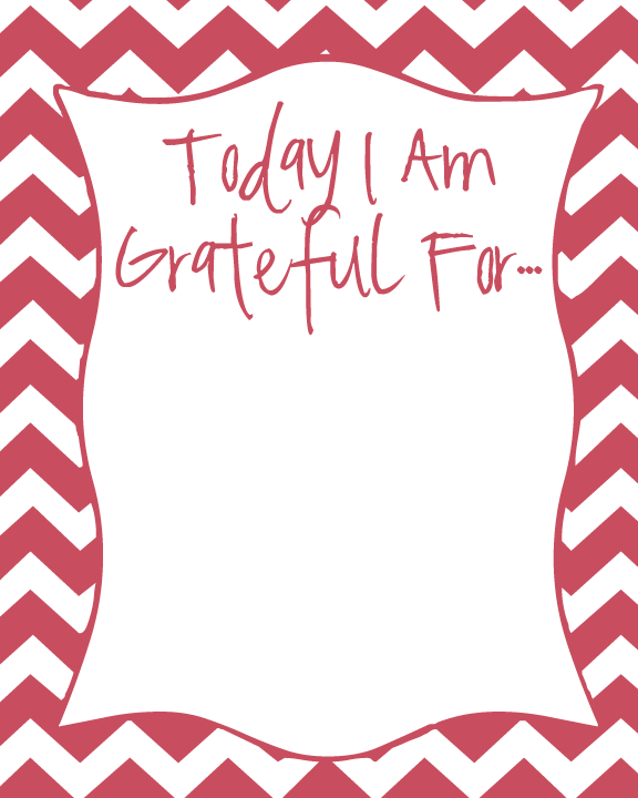 Today I Am Grateful For Printable from FrugalBeautiful.com