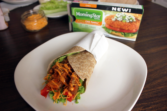 Buffalo Chikn Wraps - Meatless Mondays