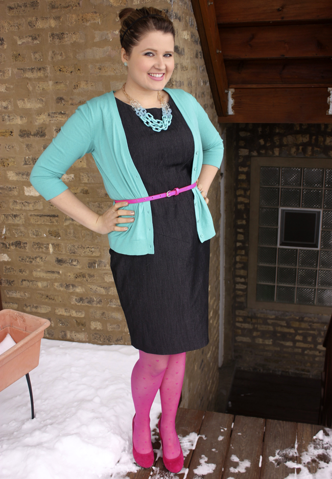 OOTD Frugal Beautiful Teal and Pink Thrifted Outfit