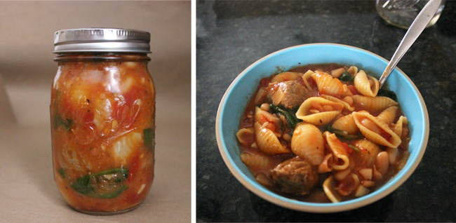 One Regular Mason Jar=Full Bowl Of Soup. Perfect For Lunches!