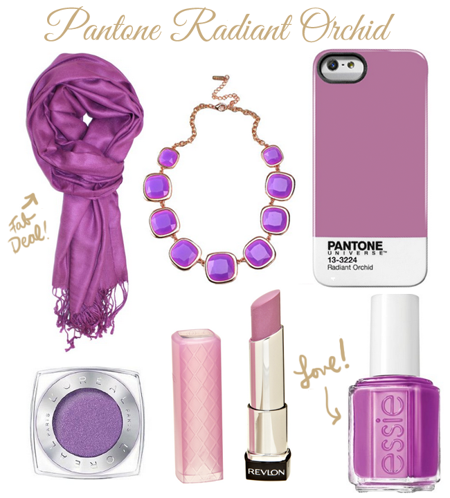 Pantone Radiant Orchid Frugal Fashion Ideas- how to incorporate Radiant Orchid into your wardrobe without breaking the bank (or looking like you try too hard!)
