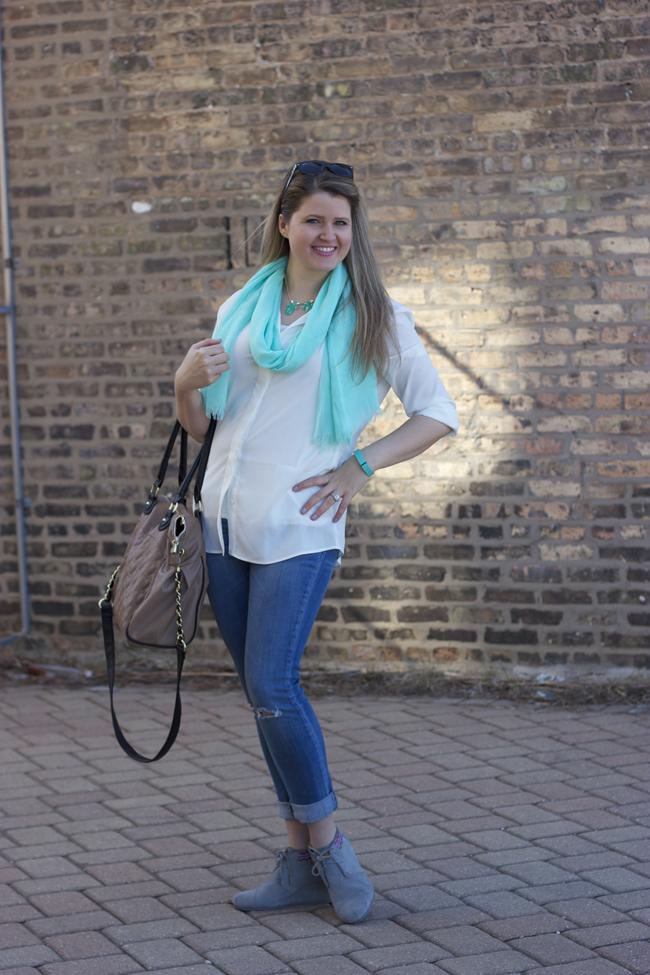 TOMS, Cuffed Jeans, Elizabeth & Clarke & Frugal Fashion Accessories