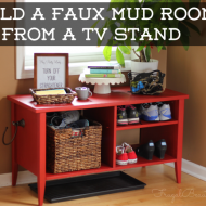 How To Create A DIY Faux Mudroom