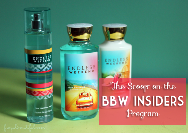 How to join the BBW Insiders Program to get free product to review for Bath & Body Works!