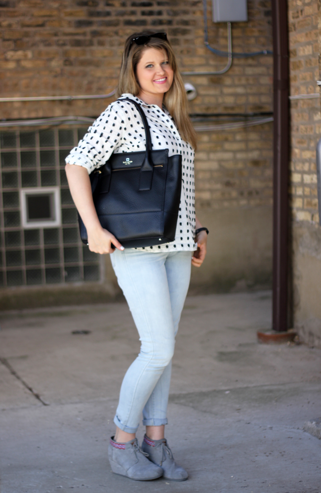 Kate Spade Work Bag With Jeans