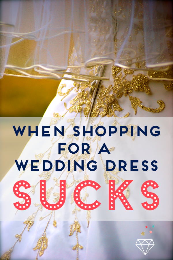 Did anyone else have as bad a time as I did when shopping for a wedding dress? It can make you feel awful! Here's how to overcome that.