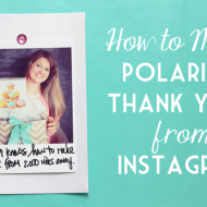 Bridal Style: How To Make Polaroid Thank You Notes From Instagram On Your Phone with #CanonPIXMA