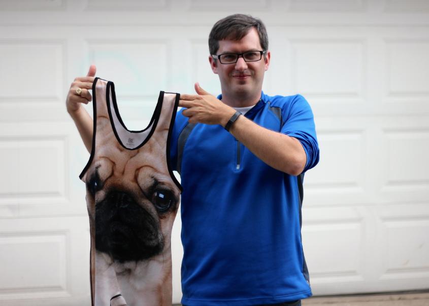 Chicago Marathon Pug Wrestling Singlet
