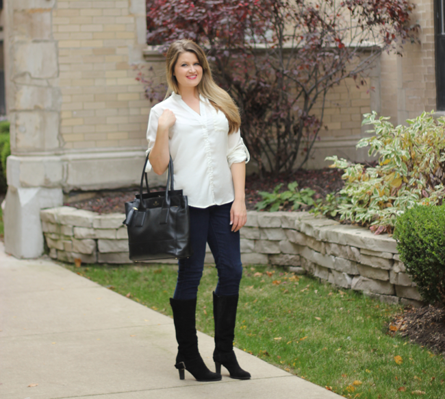 Fall fashion with DSW- my work look