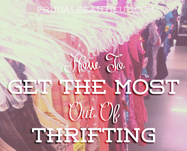 How to get the most out of your next trip to the thrift store. Advice from an expert thrifter who can help you strategize your thrifting!