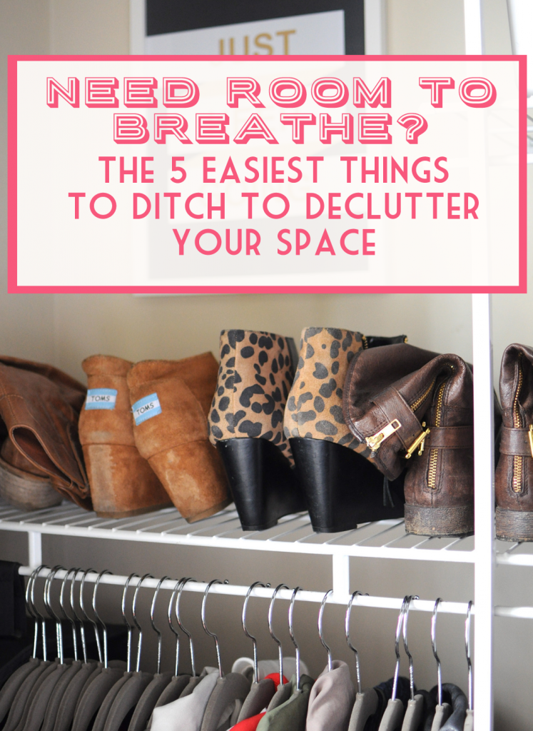 Feeling overwhelmed with clutter? Ditch these 5 things in 15 minutes or less, they're the easiest things in your home to part with for instant decluttering at home