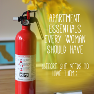 Apartment Essentials Every Woman Needs Before Something Happens
