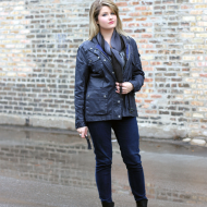 Look of the Day:  Wet & Wintry Style w/ ALDO Ankle Boots w/ #DSW