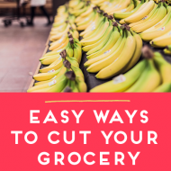 Easy Ways To Cut Your Grocery Budget