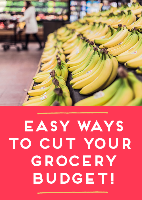 Groceries are easily the biggest part of you budget, aside from housing- so it can lead to the quickest, biggest savings for your monthly budget!  Learn some tips to cut expenses without couponing insanity!  Pin now to read before your next shopping trip!