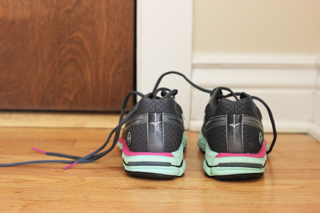 Leave your running shoes by the door. Small cues keep you on track to ensure you don't bow out on your fitness goals!