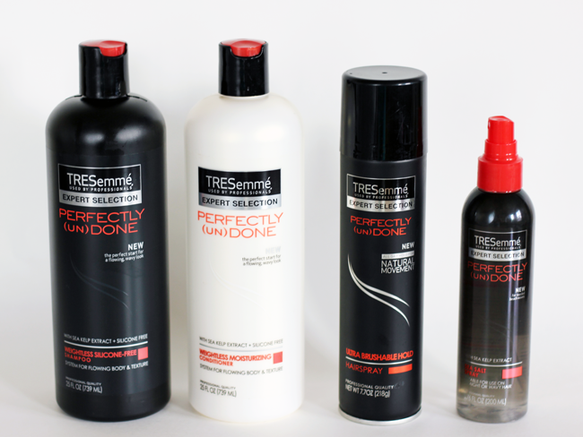 TRESemme Perfectly unDone line