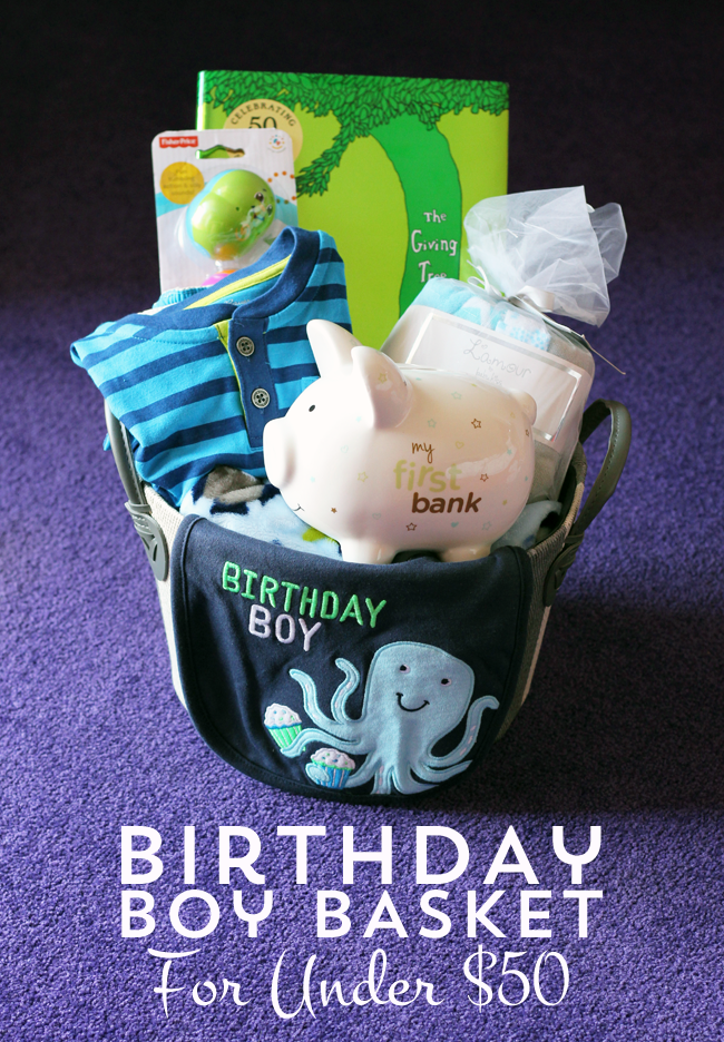 Build your own birthday boy basket for under $50 with items from TJMaxx