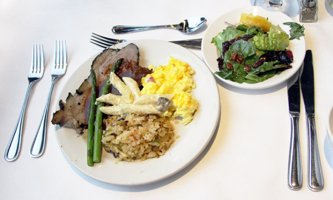 Brunch offerings on the Odyssey Chicago