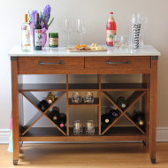 Put Together At Home: Entertaining With My Wine Bar #PutTogether