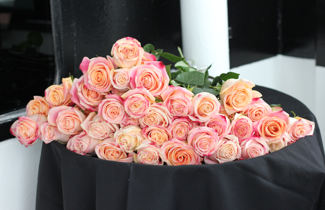 Roses for Mother's Day on the Odyssey Chicago