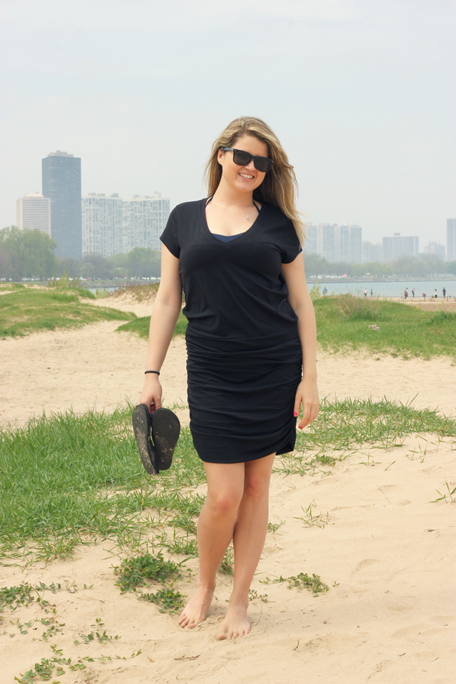 Shannyn at the beach, Chicago