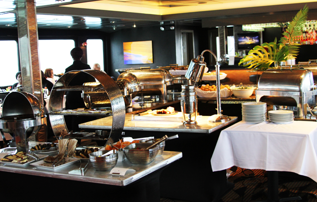 The Buffet for the Mother's Day Brunch on the Odyssey Chicago