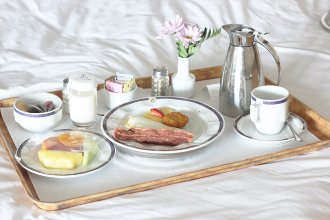 Breakfast in Bed on the ms Veendam