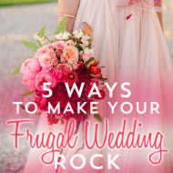 On a budget for your wedding?  Don't let the industry make you depressed, your frugal wedding can be awesome, and it will be awesome! One frugal bride on a budget shares her tips