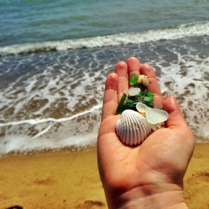 sea glass sized