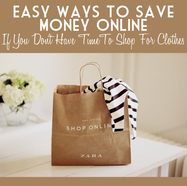 Busy? Learn the FAST tricks to save money online when you love clothes but don't have time to shop- from frugalbeautiful.com