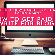 Need some side hustle income or a new career?  Writing for other people's blogs as a freelance writer