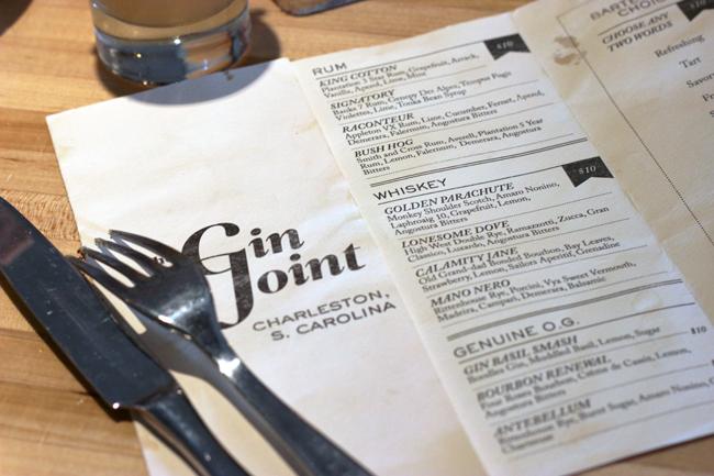 The Gin Joint Charleston South Carolina
